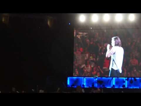 Harry Styles talking at OTRA Kansas City