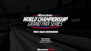 10: Suzuka // iRacing World Championship Grand Prix Series // Post Race Interviews