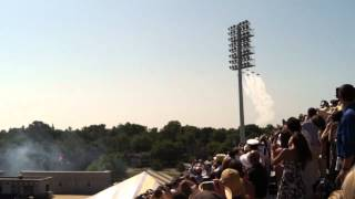 Blue Angels Fly By USNA Graduation 2012