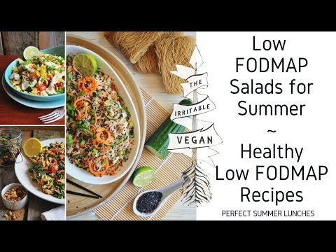 Low FODMAP Salads for Summer / Healthy Low FODMAP Summer Recipes
