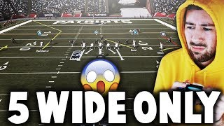 CAN I WIN A GAME ONLY RUNNING 5 WIDE FORMATION? Madden 19 Challenge
