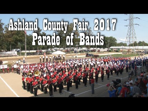 Ashland County Fair Parade of Bands 2017