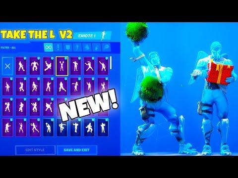 *NEW* FROZEN LOVE RANGER SKIN! With 80+ Dance Emotes SHOWCASE (TAKE the L V2) Fortnite Battle Royale