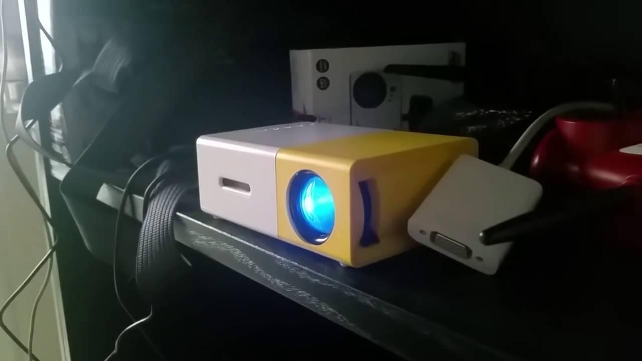Deeplee Yg300 Mini Led Projector Youtube