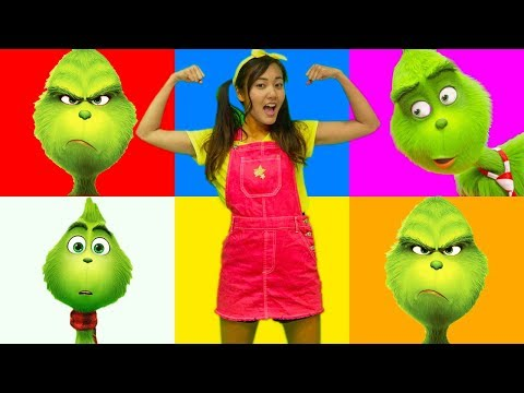 Giant Smash Grinch Christmas Game with Incredibles Family Toys and Ellie Sparkles Videos For Kids