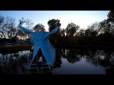 """Christmas lights on """" Blue Whale """" ( aerial video )"""