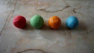 Как сделать пластилин своими руками! Простой рецепт!/How to make playdough with their hands!