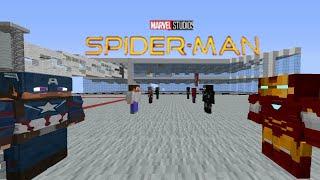 сериал Человек паук в майнкрафте ПЕ 3 серия 1 сезон Первый Мститель Битва