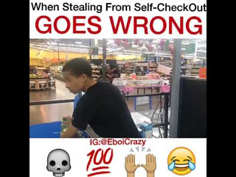 Stealing From Self-checkout Goes Wrong