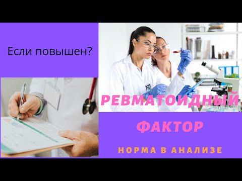 Ревматоидный фактор в анализе крови повышен причины
