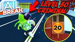MAX CRIMINAL LEVEL IN JAILBREAK! *LEVEL 50* (Roblox)