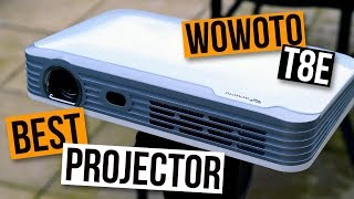 Mellor proyector de HD: The Wowoto T8E Review - O mellor HD portátil Mini DLP Smart Projector