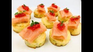 Праздничная закуска с красной рыбой |  Диетическая закуска | Низкоуглеводный, безглютеновый рецепт