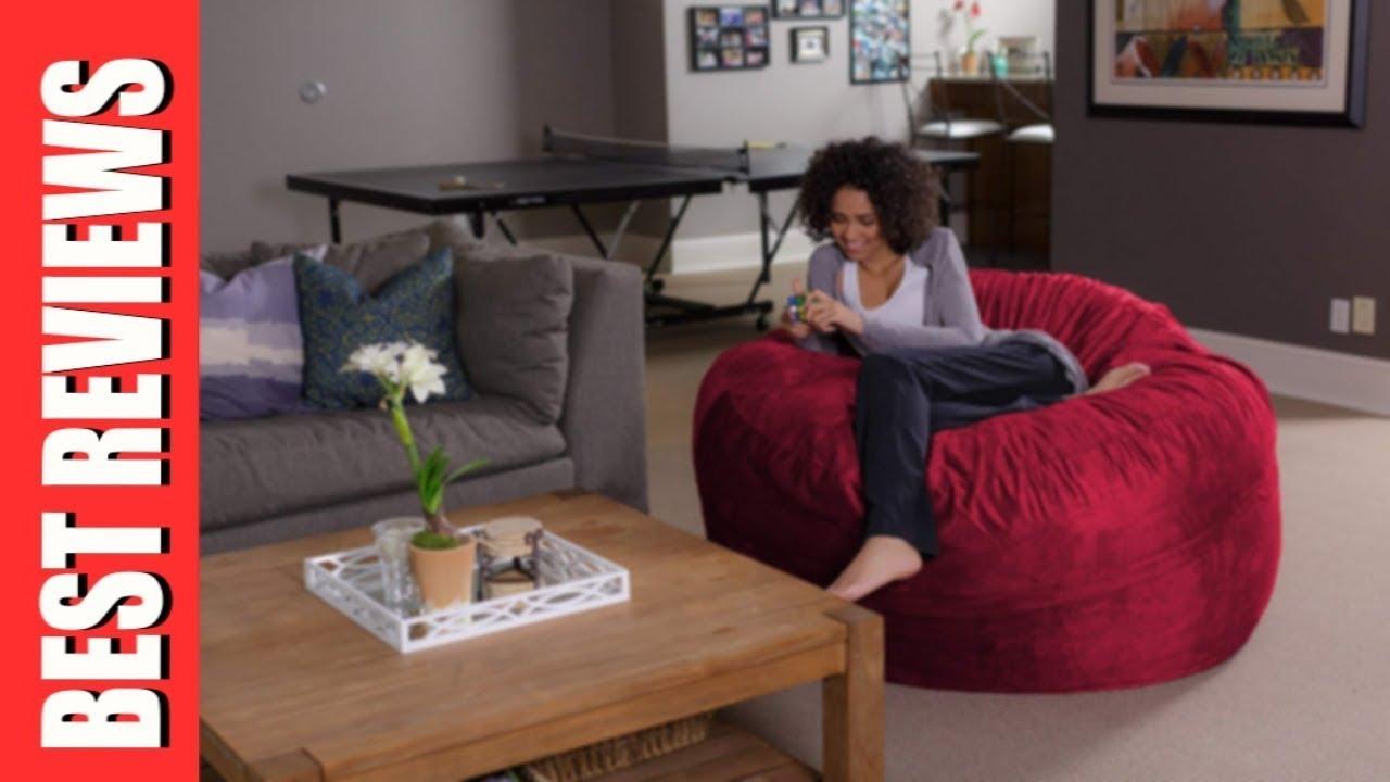 Sofa Sack Reviews Sofas Chaise Longue Cama Baratos Bean Bags Bag Chair 5 Feet Cinnabar Review Youtube
