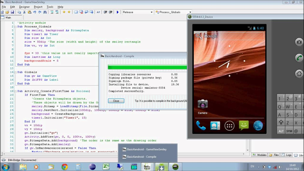 Basic4Android GameView Library - Android Games Programming - Tutorial