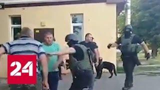 На Украине бойцы нацгвардии избивают селян