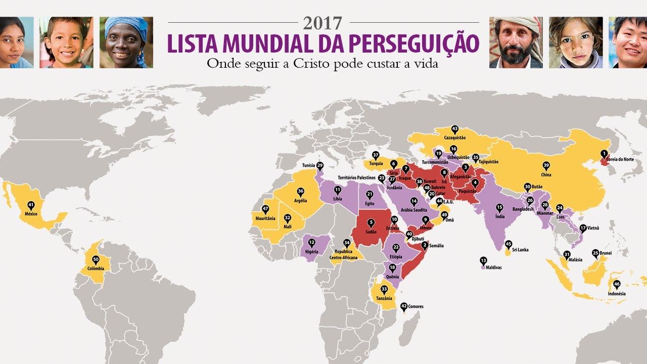 Resultado de imagem para lista mundial perseguição portas abertas