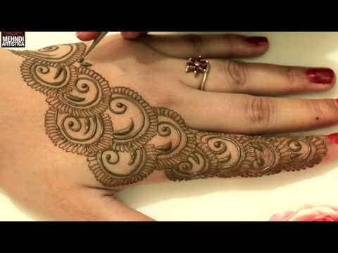 Semi Circular Easy Simple Beautiful Henna Mehndi Designs|Trendy Designer Mehandi Tricks Art Class
