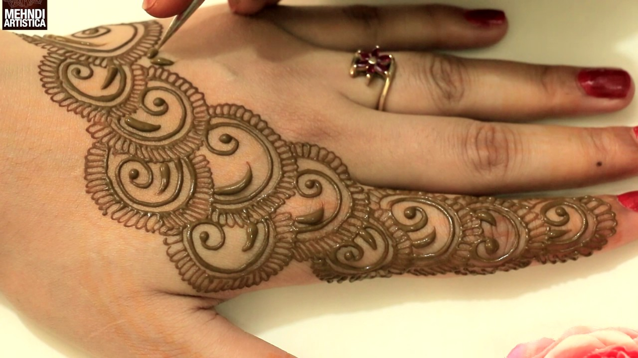 Semi Circular Easy Simple Beautiful Henna Mehndi Designs