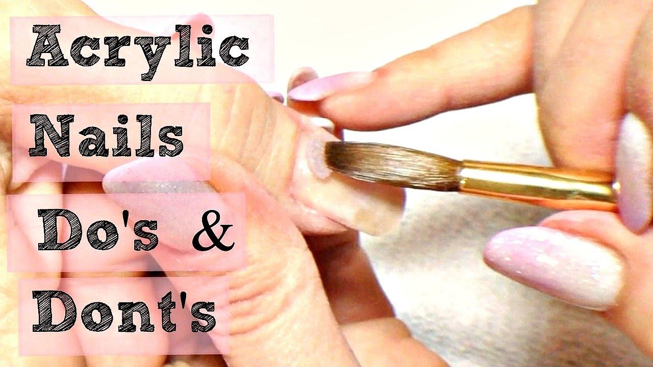 💅 DIY Acrylic Nails Tutorial Do\'s & Don\'ts 💅 - YouTube