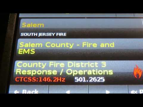 Commercial Structure Fire from a brush fire with exposures Pittsgrove Twp Nj(Audio only) 1st 2 hours