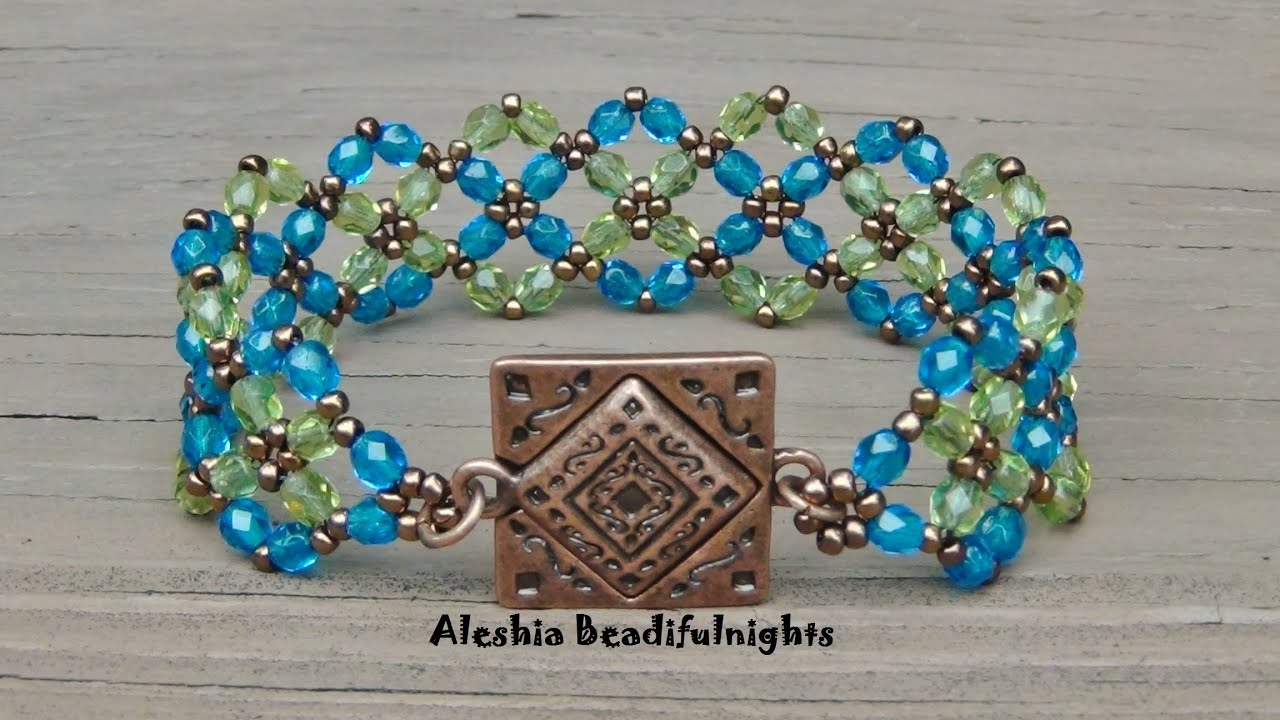 Beaded Bracelet Design Ideas make a charm bracelet with aluminum beads Crossing Paths Beaded Bracelet Tutorial