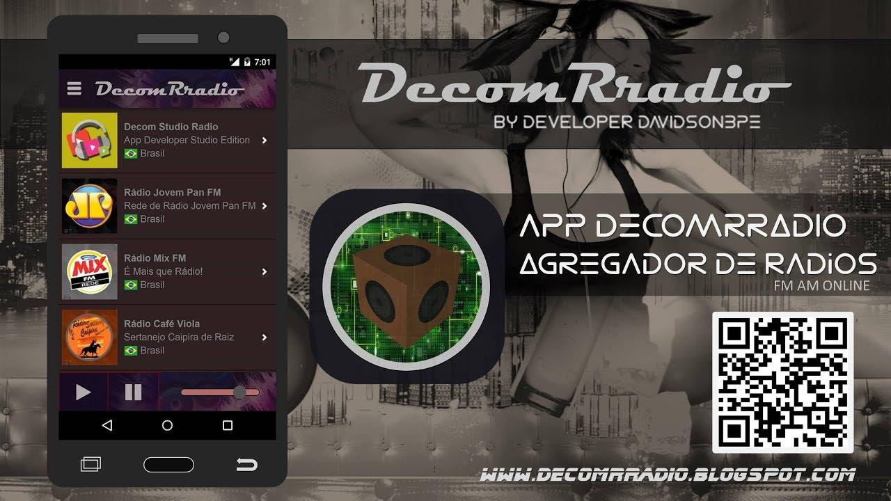 App DecomRradio Agregador de Radio FM AM ONLINE