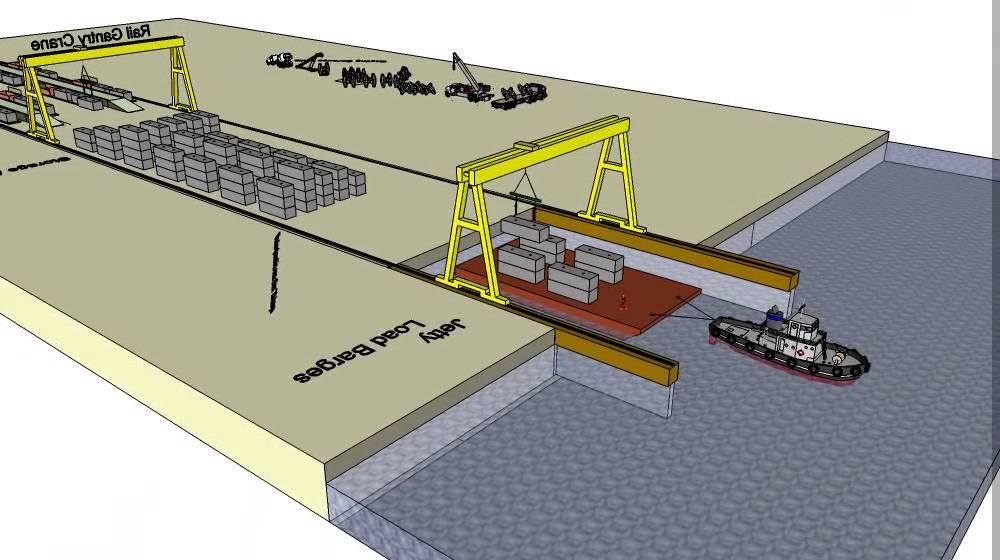 Breakwater Armour Amp Quay Wall Blocks Precast Yard Youtube