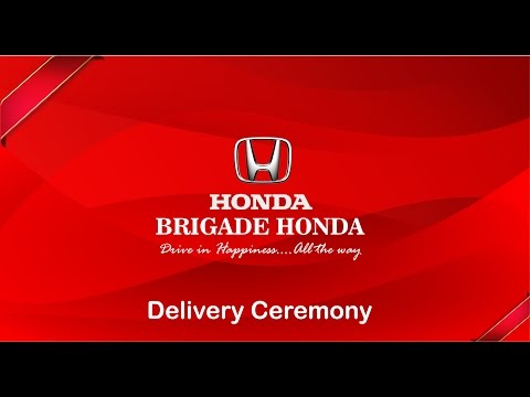 Brigade Honda Delivery Ceremony
