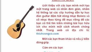 Website sắp xếp, hệ thống theo đề mục các clip dạy đàn guitar của ThichVongCo