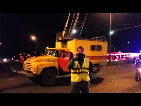 Перевозка реактора. Великий Новгород 11.2015.