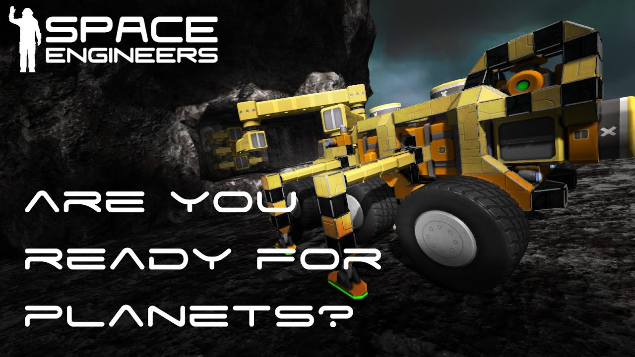 Space Engineers Building A Ship On Planets