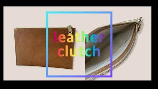 Easy-to-make leather clutch ba…