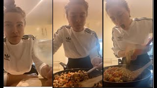 Cooking with Florence Pugh  Stuffed Peppers