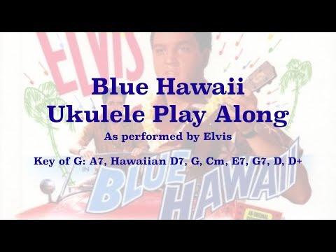 Blue Hawaii Ukulele Play Along In G Youtube