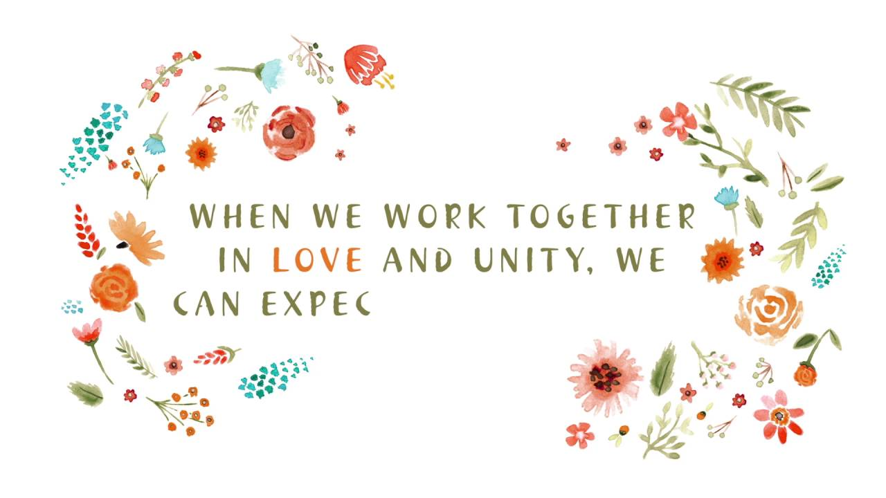 Working Together in Love and Unity - YouTube