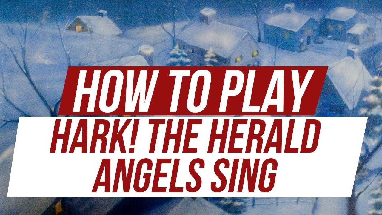 How To Play Hark The Herald Angels Sing On Guitar Youtube