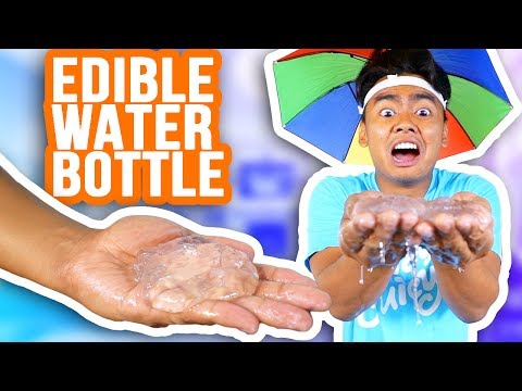 WATER BOTTLES YOU CAN EAT!!