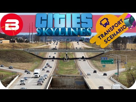 Cities Skylines Gameplay - HYPERSPACE BYPASS (Cities: Skylines TRANSPORT Scenario) #5