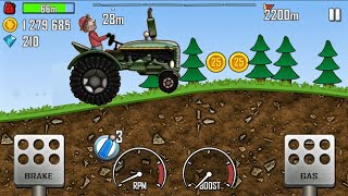 TRACTOR FULLY UPGRADED#HILL CLIMB RACING TRACTOR ON FOREST