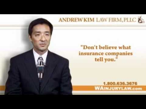 Bellevue Washington Car Accident Attorney Andrew Kim - Small Talk Can Kill Your Injury Claim