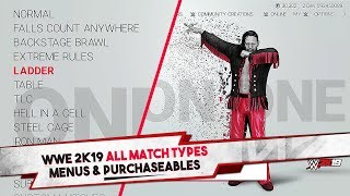 WWE 2K19 All Match Types, Menus, & Purchaseables (20+ Match Types)