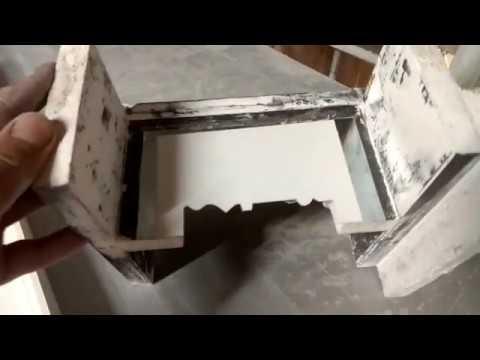 Изготовление плинтуса (тяги) из гипса. Как сделать плинтус