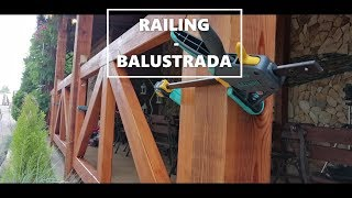 How make wooden rail/ fence - DREWNIANA BALUSTRADA