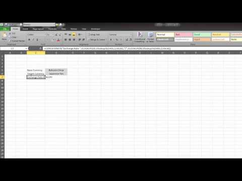 Finance with Excel: Exchange Rate Calculator
