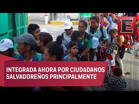 Tercera caravana migrante llega a frontera de México con Guatemala