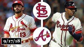 St. Louis Cardinals vs Atlanta Braves Highlights    September 17, 2018