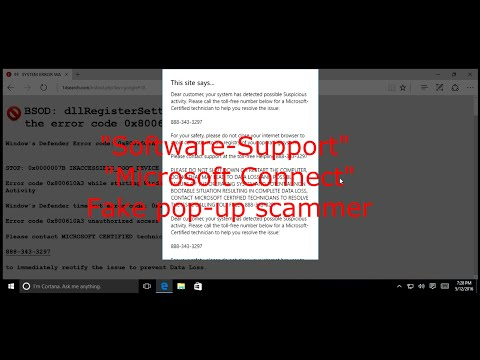 """softwaresupport.us"" fake tech support scam 