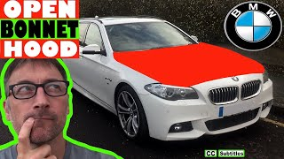 How to open hood on BMW 5 Series - How to open bonnet on BMW 5 Series