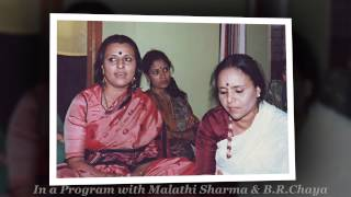 Short video biography of Smt Ratnamala Prakash